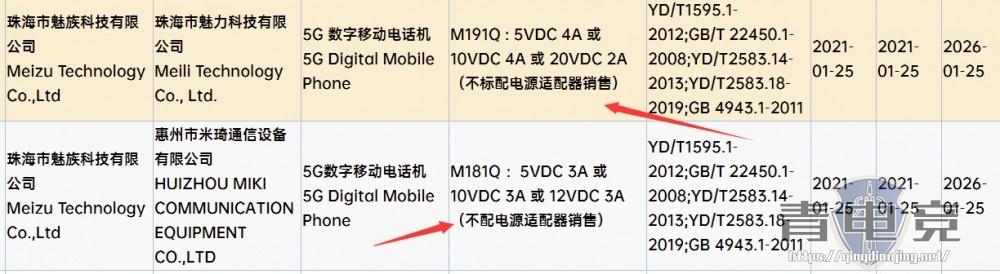 魅族新机通过认证:取消电源适配器