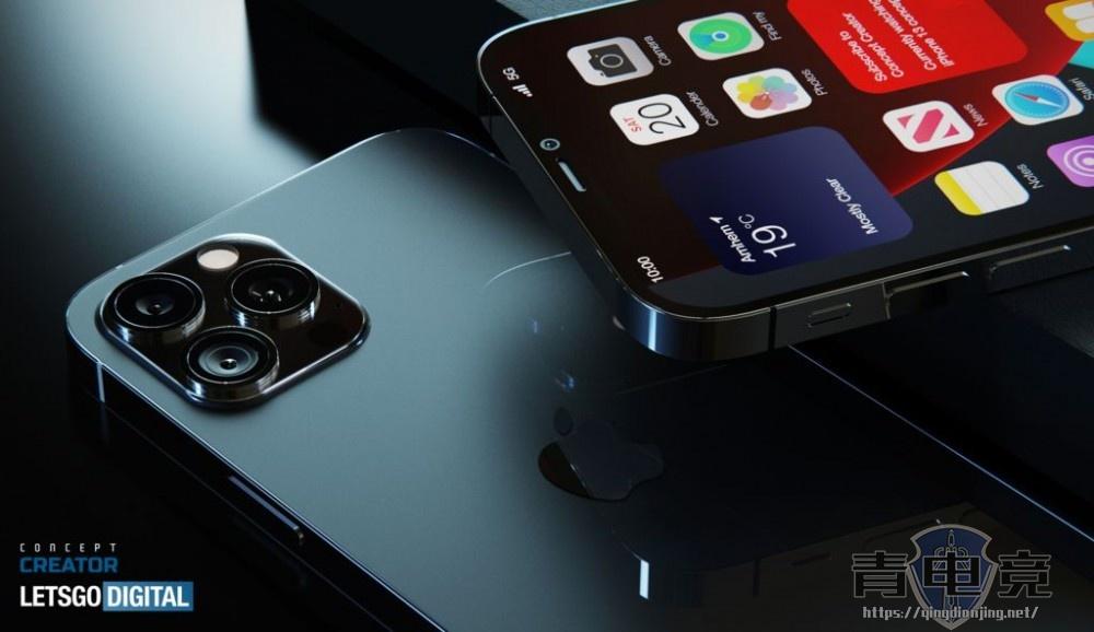iPhone 12s Pro高清渲染图:120Hz高刷+屏幕指纹